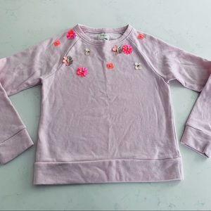 Crewcuts girls beaded floral sweatshirt